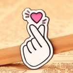 GS-JJ'S Finger Heart Lapel Pins