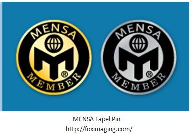 MENSA Lapel pins