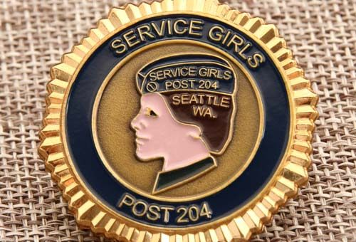 Service Girl Challenge Coin_GS-JJ