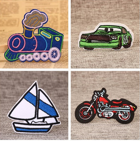 Transportation custom made patches