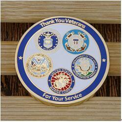 Veterans challenge coins