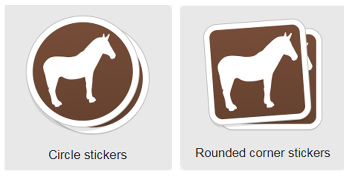 circle stickers VS rounded corner stickers