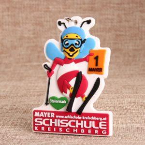 Bee PVC keychain