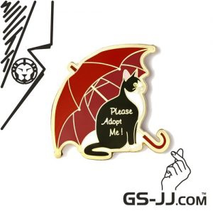 Please Adopt Me Cat Lapel Pins – Ready-made