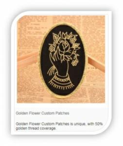 Metallic gold custom patches