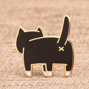 The Back of Cat Cool Enamel Pins