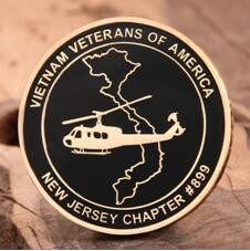 Vietnam veteran challenge coins
