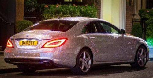 Benz with a million Swarovski diamonds 1