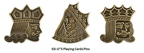 GS-JJ'S Playiny cards pins