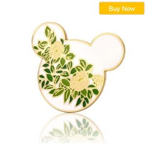 Hidden Mickey Camellia Flower Pins