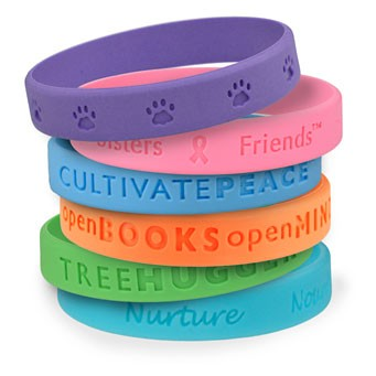 Silicone Wristbands with different colors have different meanings