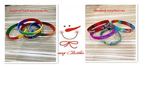 Segmented Wristbands & Swirled Wristbands