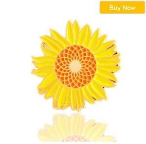 Sunflower Custom Enamel Pins