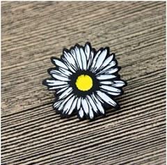 White Chrysanthemum Lapel Pins