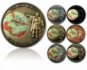 Columbus Day challenge coins