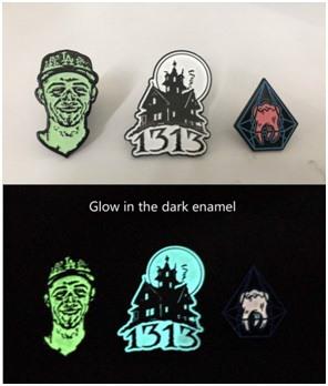 glow in the dark enamel for custom pins
