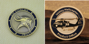military challenge coins with logo desig
