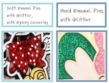 glitter enamel pins