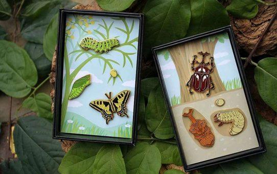 custom pins for Papilio Machaon