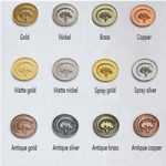 coins metal finishes