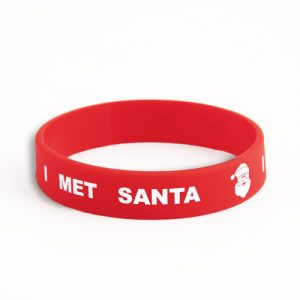 Santa Silicone wristbands made for kids