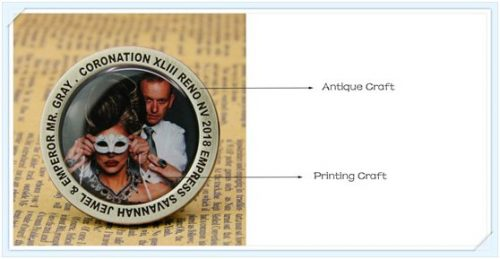 Antique with printing craft