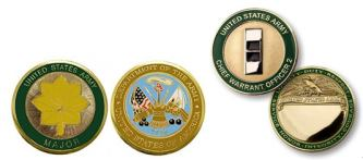 Army Officer Ranks Military Coins