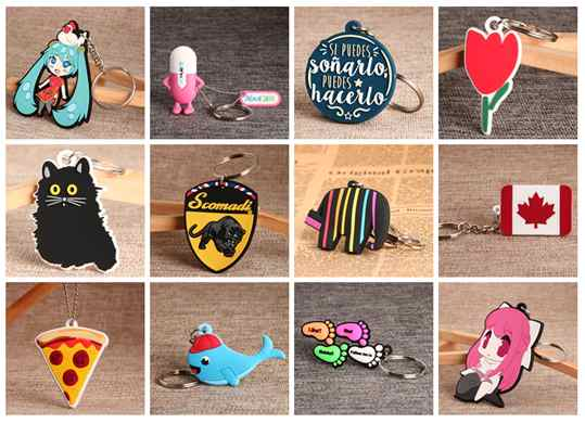 Different PVC keychains