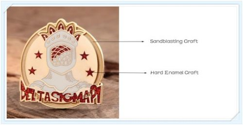 Hard enamel and sandblasting craft