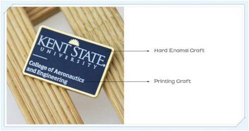 Hard enamel with printing craft