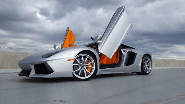 Lamborghini Aventador LP700-4 Matte Silver Car