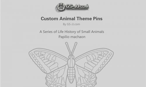 custom pins for Papilio Machaon