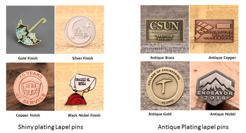 Electroplating VS Spraying | Lapel Pins | Custom pins | GS-JJ com ™‎