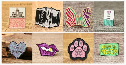 Soft Enamel Pins with Glitter