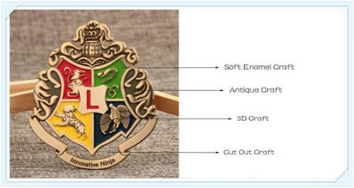 Soft enamel, antique and 3D/Cut out craft