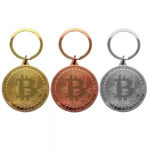 Bitcoin coin keychain