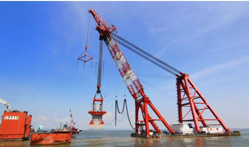 HZM Bridge production and floating installation