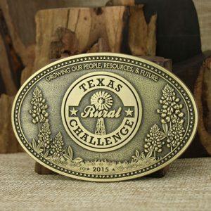 Texas Custom Brass Belt Buckles