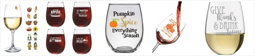 Thanksgiving Wine Glasses