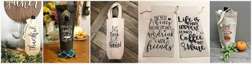 Thanksgiving Wine Totes