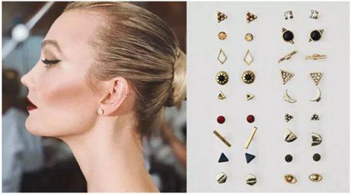 Karlie Kloss with ear studs