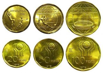 1978 FIFA World Cup Argentina Coins