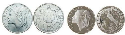 1990 FIFA World Cup Italy Coins