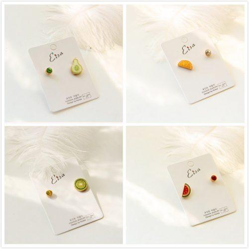 fruit-shaped ear studs