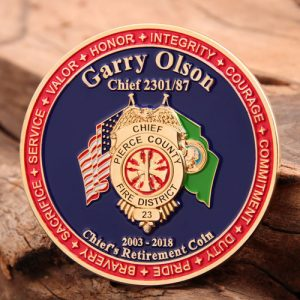 Chief Firefighter Challenge Coins