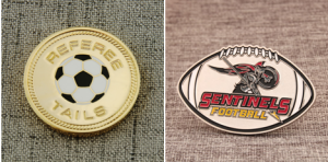 Football challenge coins