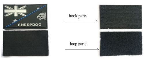 Hook and loop fasteners PVC Patches