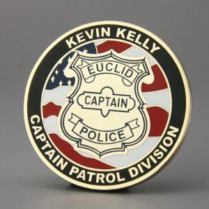 Police Captain challenge coins