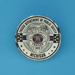 Police Patrolman challenge coins