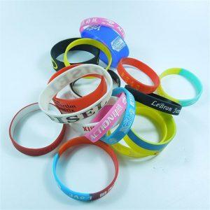 Some Custom Silicone Wristbands